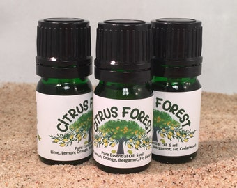 Citrus Forest Essential Oil Diffuser Blend, Holiday Diffusing, Outdoors aroma, Thanksgiving, Christmas, Holiday Blend, Open House Diffusing