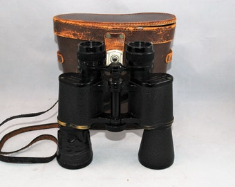 Vintage English Made Binoculars by Heath & Company  London SE9  in Original Case     01315