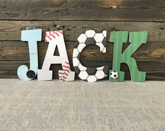 Sports Letters, Sports Nursery, Sports Decor, Sports Baby, Nursery Wood Letters, Nursery Decor, Nursery Letters, Baby Boy, Wall Letters