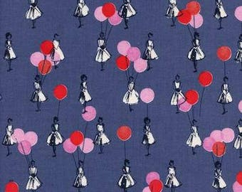 UK SHOP - Balloons Blue from Jubilee by Melody Miller for Cotton and Steel