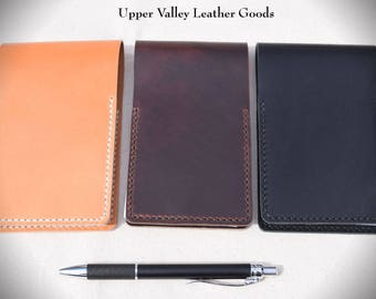 Leather note pad flip cover case Made in USA