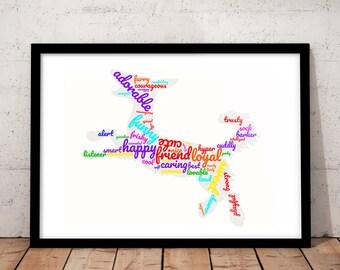 Framed Dog Prints - Dog Picture - Dog Printable - Art, Decor, Poster, Gift Idea For Dog Lovers -