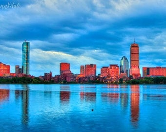 Boston Skyline, Charles River, Back Bay, Boston Photography,Boston Art, Boston Cityscape Art, Boston Prints, Boston Gifts, Boston Wall Art