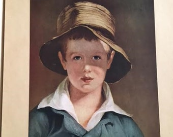 Vintage Antique Instructor Picture Study Series 1924 #2 The Torn Hat painted by Thomas Sully