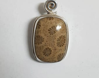 Fossil Coral Pendant #14