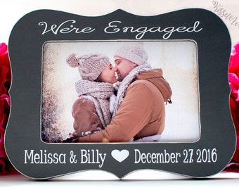 Engagement Gift Engagement Picture Frame Personalized Engagement Gift Personalized Picture Frame Wedding Shower Gift Picture Frame 4x6