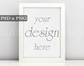 Styled Stock Photography Simple Blank White Vertical Mockup Download Frame Empty Art Frame Product Digital Background Smart Object Photo