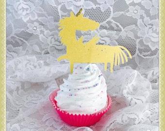 Unicorn Cupcake Toppers - Unicorn Party Decorations - Unicorn Party Decor - Unicorn Birthday Party Cupcake Toppers - Baby Shower Cupcakes