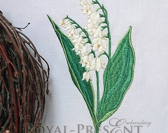 Machine Embroidery Design Lilies of the valley - 2 sizes