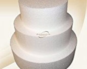 "Round or Square Cake Dummies - Set Of 3, sizes are 6"", 8"", & 10"""