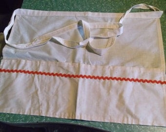 Apron, Red Rick Rack