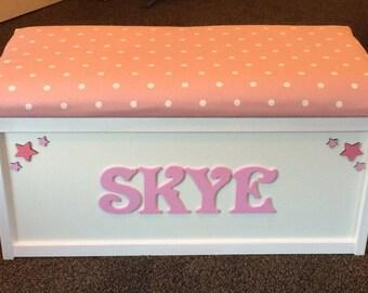 Storage box. Toy box. Toy chest. Storage. Personalised toy box. Custom toy box. Girls toy storage box. Bedding box. Keepsake box.