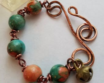 Turquoise Matrix Copper Bracelet