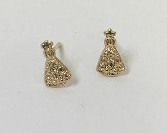 Virgen del Valle earring post.  Goldfilled earrings.
