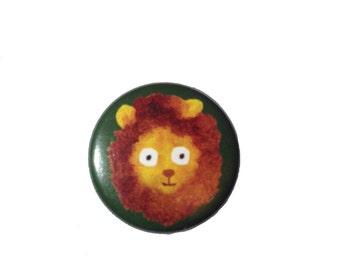 Animal pin badge (choose from frog/lion/unicorn/elephants & dinosaur)