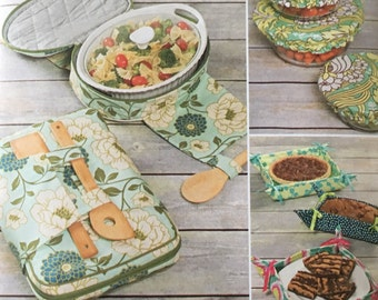 Simplicity Fabric Bowl Cover Pattern, Casserole Carrier Pattern, Fabric Basket Sewing Pattern, Simplicity Sewing Pattern,  NEW UNCUT