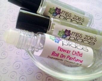 Natural Flower Child Roll On, Womens Perfume, Fragrance Oil, Vegan Perfume, Feminine Perfume, Roll On Fragrance, Roll On Perfume Oil