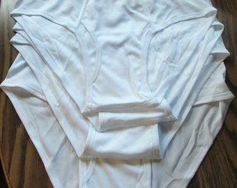 C0UPON C0DE Sale!!A Lot of 4pr of Men's Vintage 80's Bright White INSTADRY Undies By HABAND.L   LN!!
