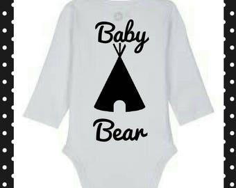 Baby Bear Print Onesie