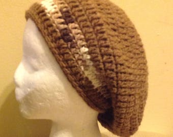 Crochet Slouchy, Tam, Rasta Hat