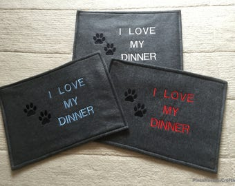 Dog/Cat I Love My Dinner Mats