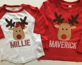 Reindeer Personalized Shirts - Private Listing