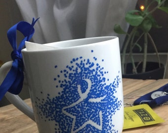 Colon Cancer Star Mug