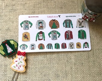 H118 - Ugly Sweater Party | Perfect for Your Erin Condren Life Planner