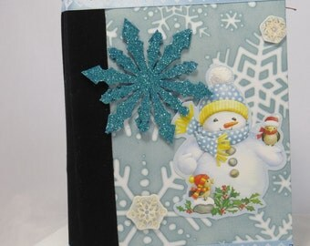 Christmas Mini album, winter mini album, envelope mini album, mini brag book, Christmas keepsake album, handmade mini album, snowflake album