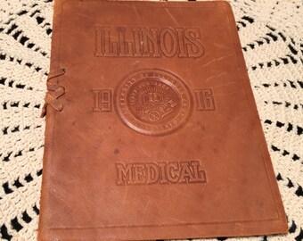 1916 Illinois University of Illinois , College of Medicine commencement book