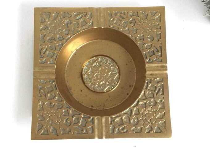 Mid Century Brass Ashtray