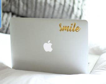 Smile Macbook / Laptop Vinyl Decal