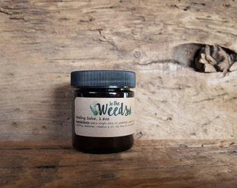 Healing Salve   Bug Bites   Sunburns   Skin   Plantain   Herbal   All Natural   Kid Safe   1.7oz  