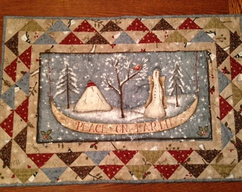 Peace on Earth wall quilt