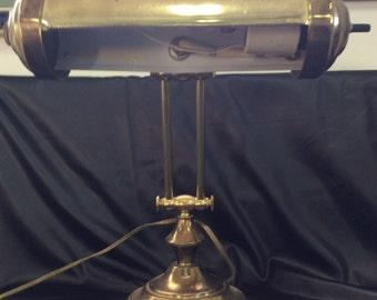 Brass bankers lamp, Brass lamp, Adjustable lamp, Vintage lamp, Desk lamp, Piano lamp