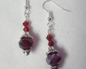 Beautiful red crystal dangle