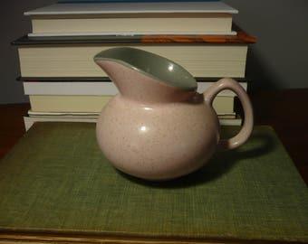 Pink Speckled Creamer, Grey Interior