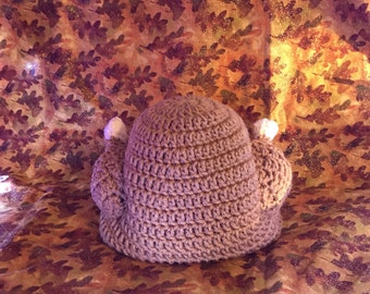 Crochet turkey beanie fall prop, babyshower gift, thanksgiving outfit