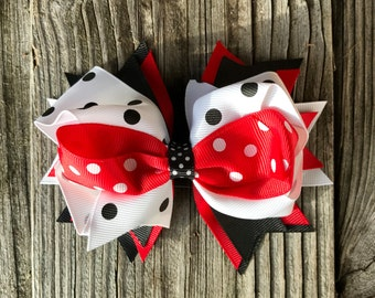 Big hair bow clip 5 inches for baby Toddler Girl, multiple layers, Christmas gift , Birthday gift for girls