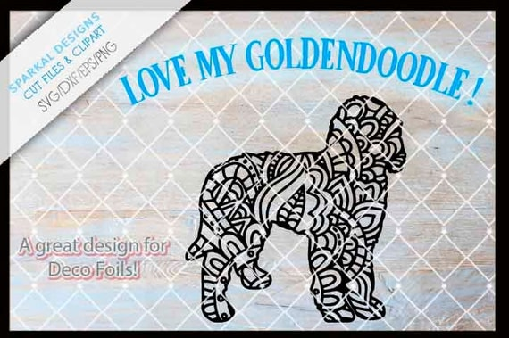 Zentangle Goldendoodle Dog Cutting Files Svg Dxf Eps Png