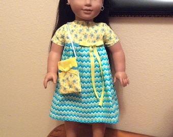 "One of a Kind Doll Dress Outfit fit 18"" American Girl Doll- Shoes included."