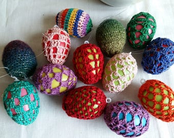 Easter egg, crochet egg, Easter decoration