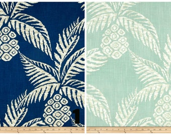 PAIR Of Window Curtains Window Panels Tropical Drapes Window Treatments  Floral Curtains Beach Curtains Pineapple Decorations