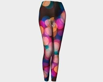 Polka Dot Leggings | Yoga Leggings | Womens Yoga Pants | Printed Leggings | Brown Leggings | Workout Leggings | Festival Leggings
