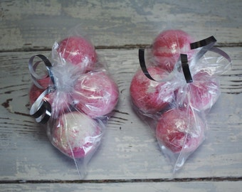 Lot of 8 PEPPERMINT Scrub Bath Bomb Bombs 1.3 oz Mini Bombs - bath truffles party favors wholesale bulk gift set ultra lush