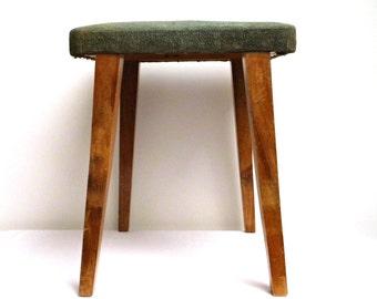 Vintage Upholstered Stool Green Velvet Antique German Bench Ottoman Footstool Wooden Foot Stool Oak Wood Legs  sc 1 st  Etsy & Upholstered ottoman | Etsy islam-shia.org