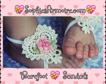 Barefoot Sandals*Baby Sandals*Barefoot Sandals Infants*Newborn Sandals*Infants Sandals*Girls baby Barefoot sandals*