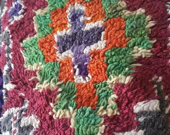 vintage carpet tassle cushion