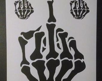 Skeleton Hand Finger Halloween Custom Stencil FAST FREE SHIPPING