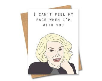 Joan Rivers Weeknd inspired card - Comedian - Funny